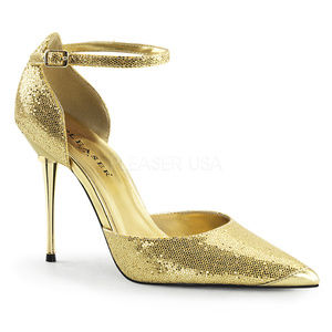 """Shoes - 4"""" Metal High Heel Pointy Stiletto Shoes Gold"""